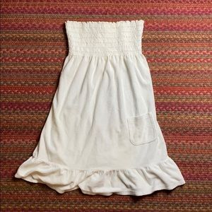 VINTAGE JUICY COUTURE WHITE TERRY CLOTH TUBE DRESS